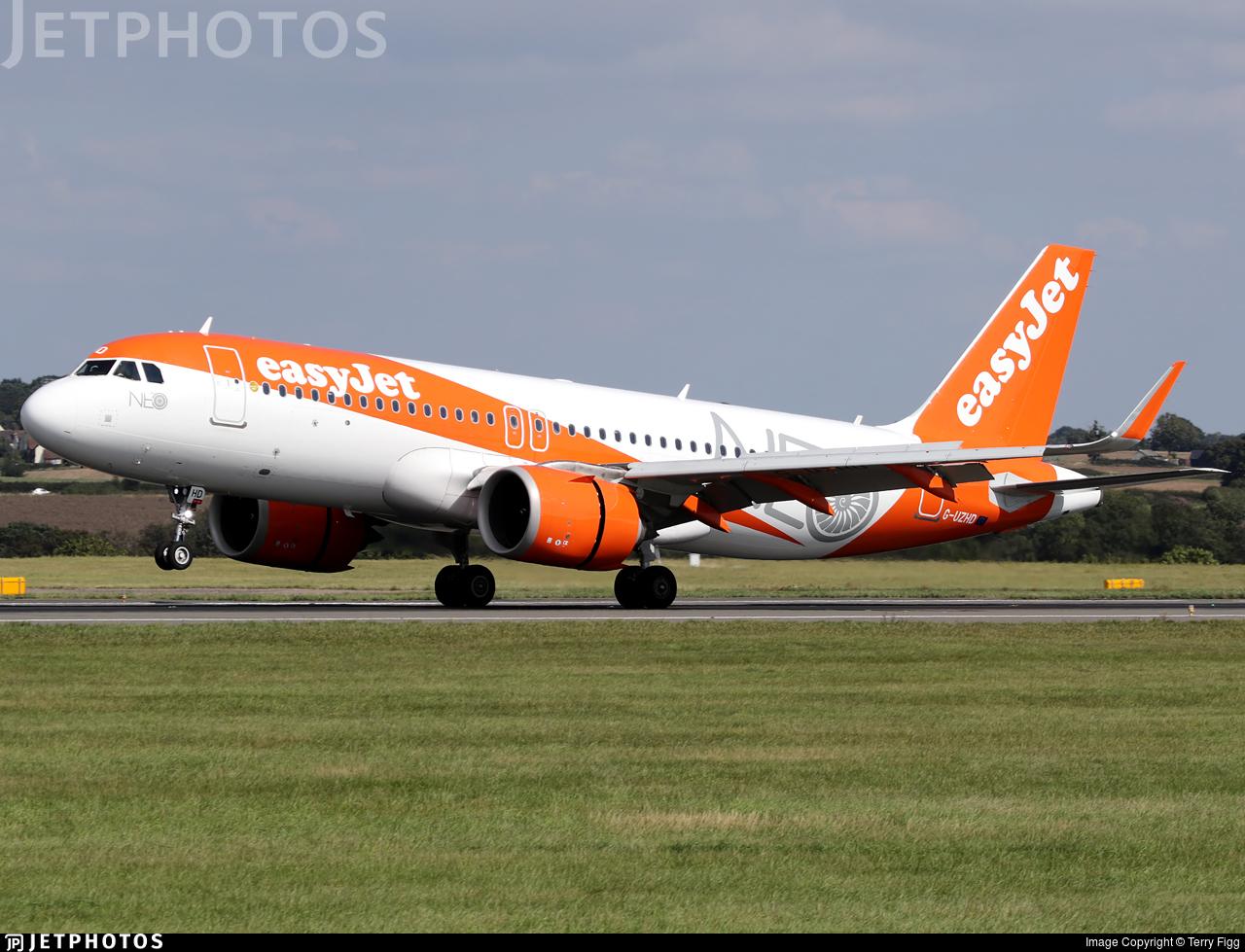 G-UZHD - Airbus A320-251N - easyJet