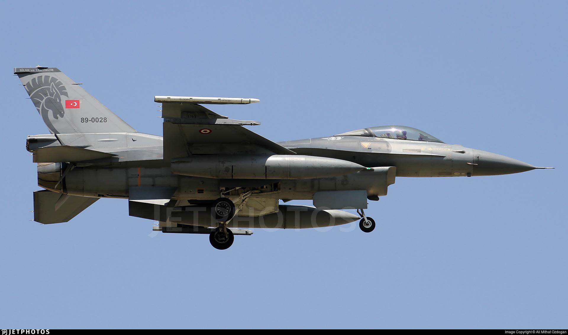 89-0028 - General Dynamics F-16CG Fighting Falcon - Turkey - Air Force