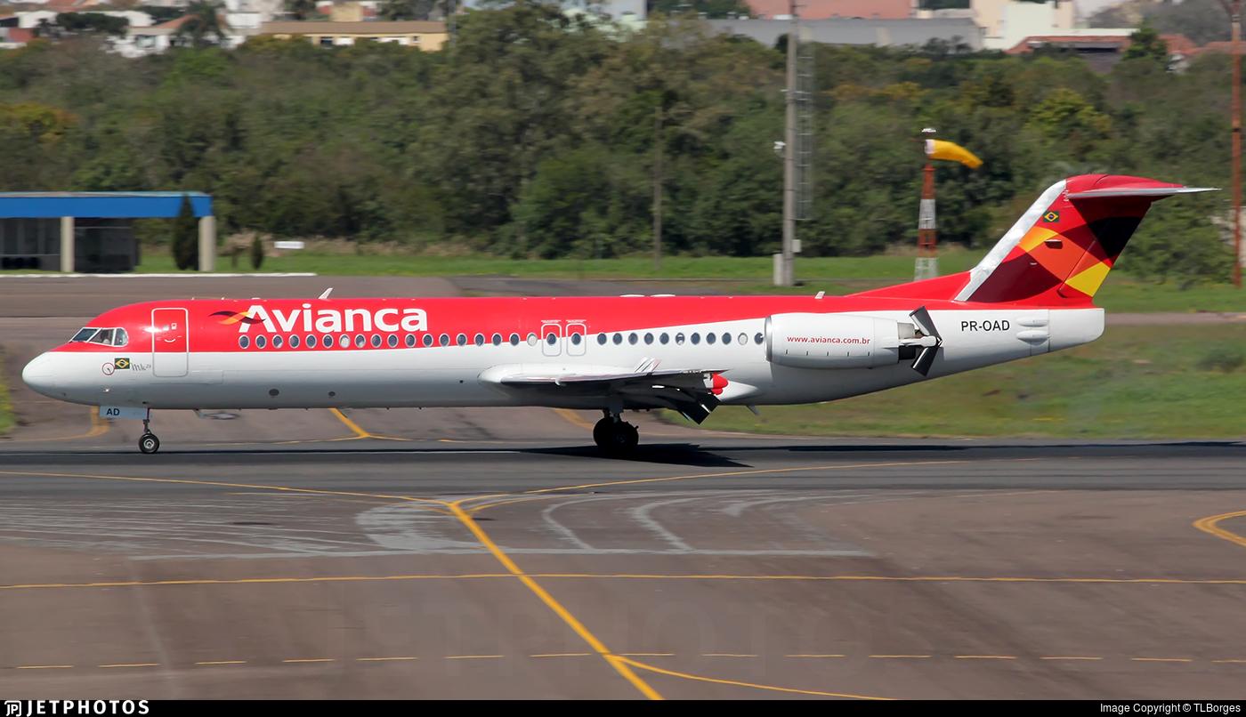 PR-OAD - Fokker 100 - Avianca Brasil