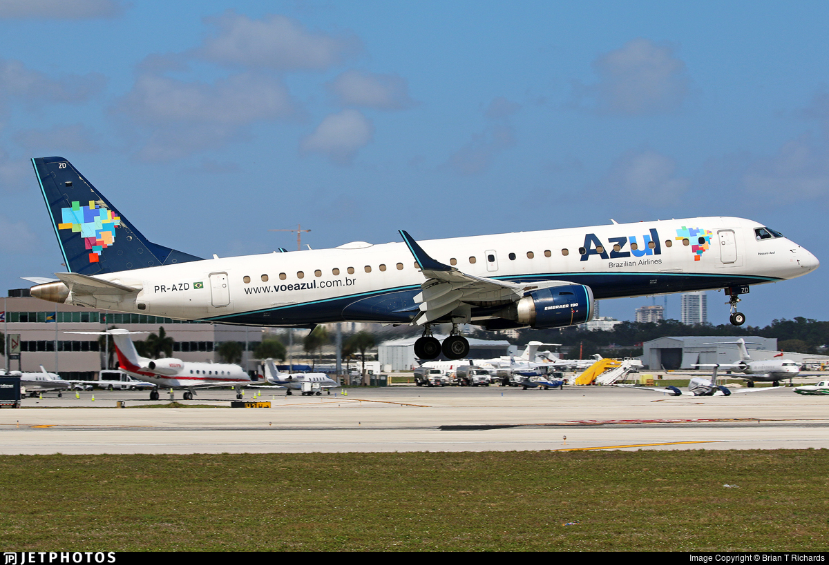 PR-AZD - Embraer 190-100IGW - Azul Linhas Aéreas Brasileiras