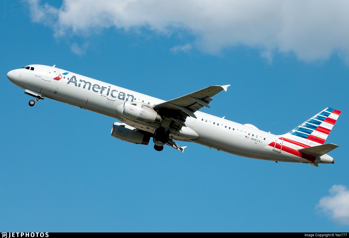 N982VJ - Airbus A321-231 - American Airlines