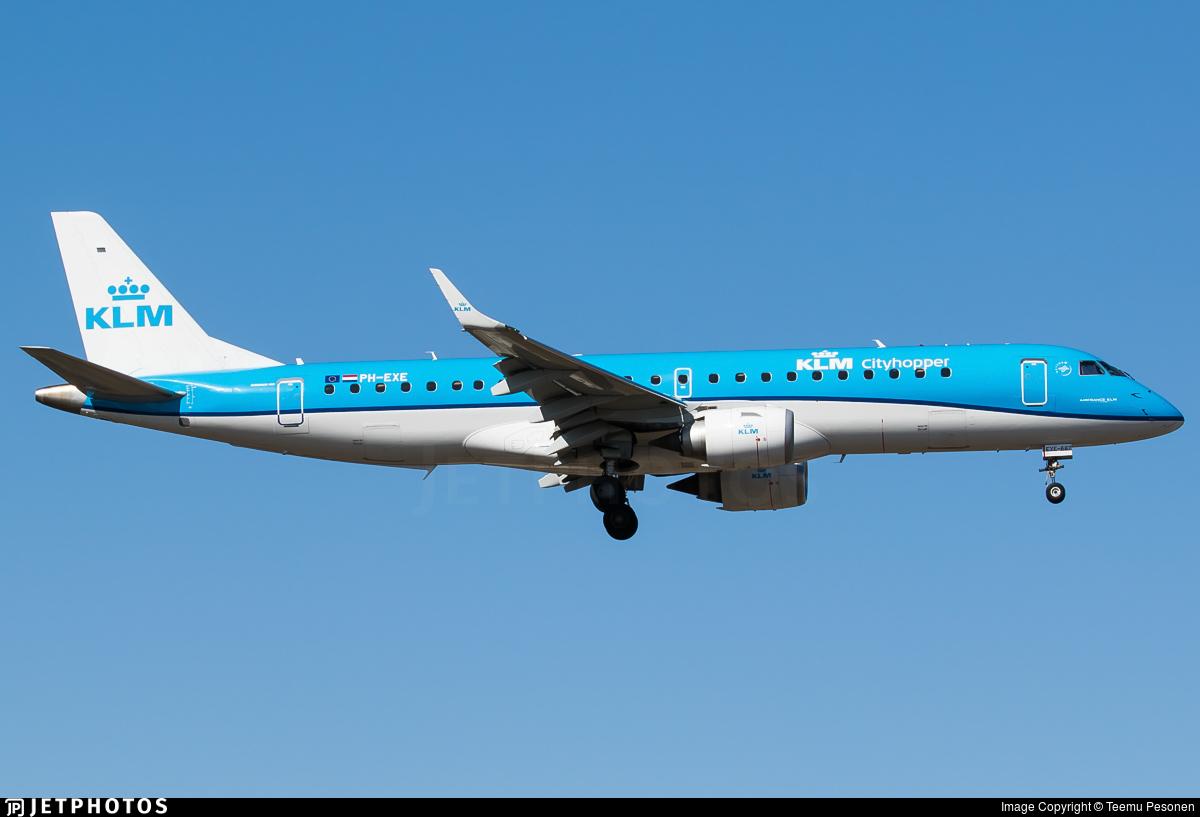 PH-EXE - Embraer 190-100STD - KLM Cityhopper