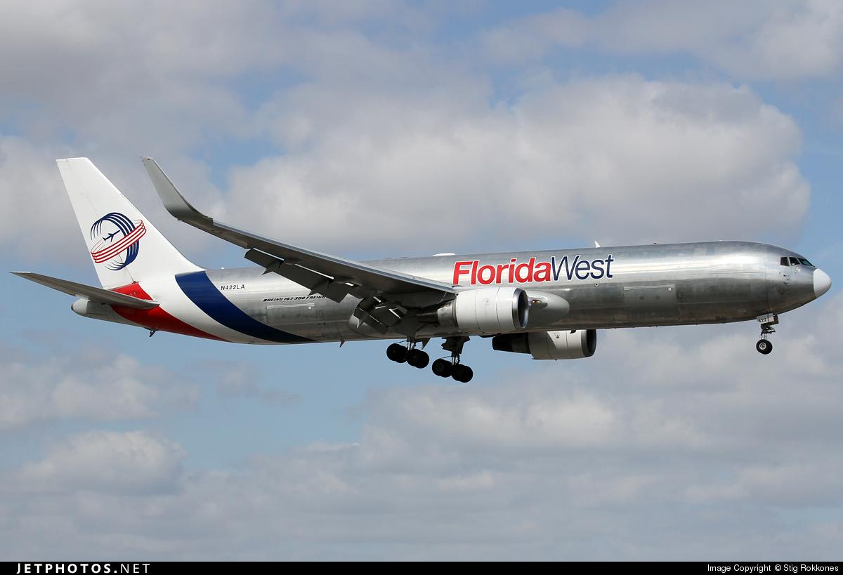 N422LA - Boeing 767-346F(ER) - Florida West International Airways