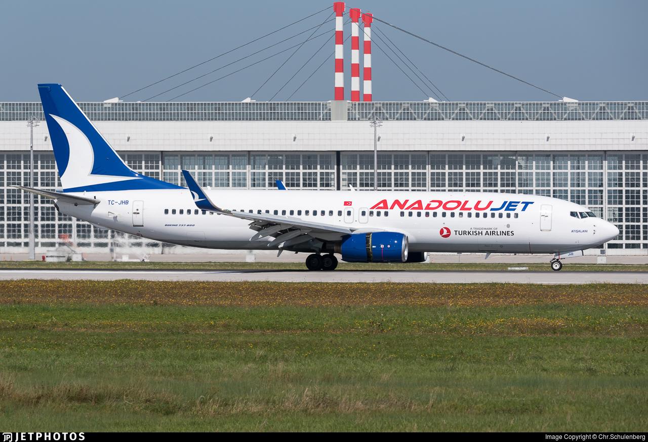 TC-JHB - Boeing 737-8F2 - AnadoluJet