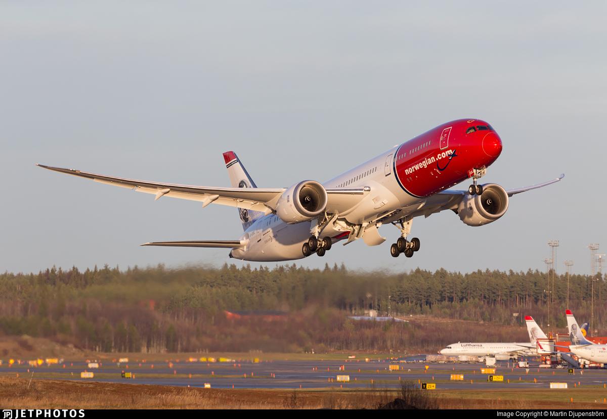Resultado de imagen para b787 dreamliner norwegian jetphotos