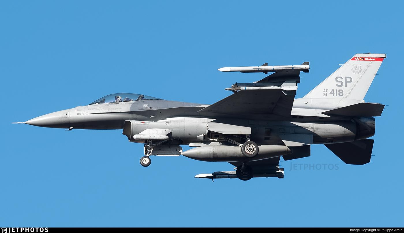 91-0418 - Lockheed Martin F-16C Fighting Falcon - United States - US Air Force (USAF)