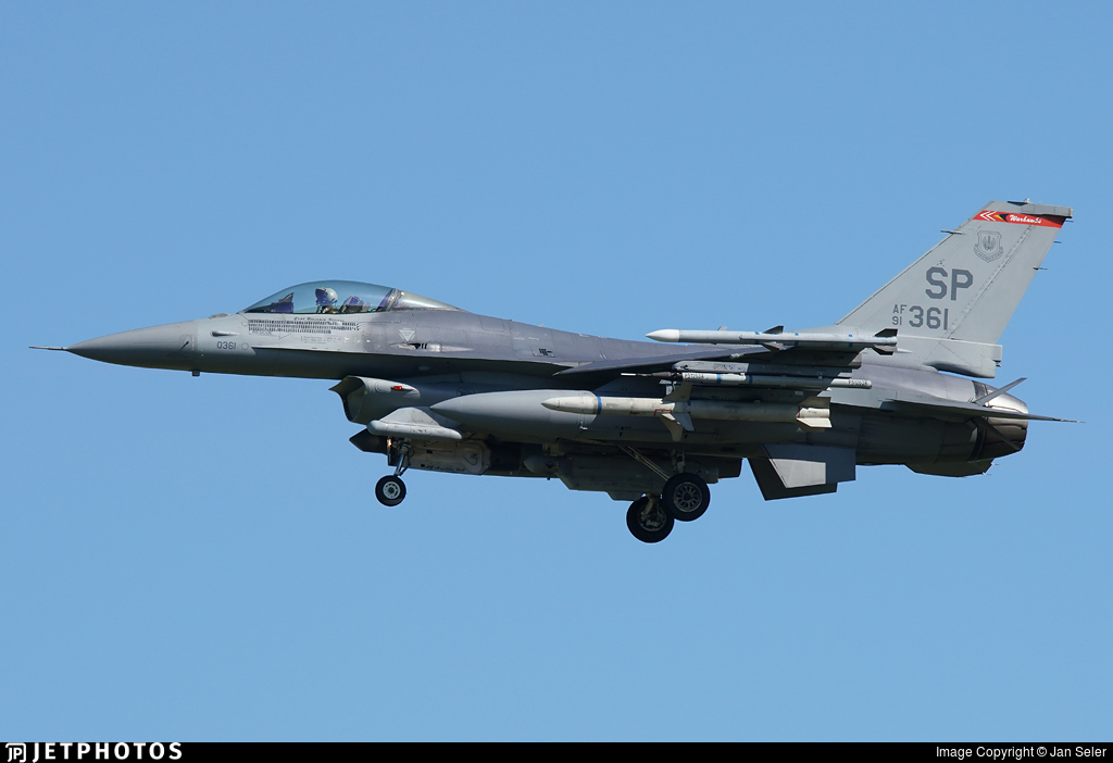 91-0361 - General Dynamics F-16CM Fighting Falcon - United States - US Air Force (USAF)