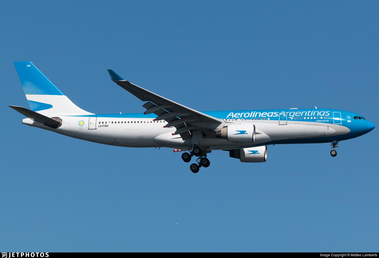 LV-FNK - Airbus A330-223 - Aerolíneas Argentinas