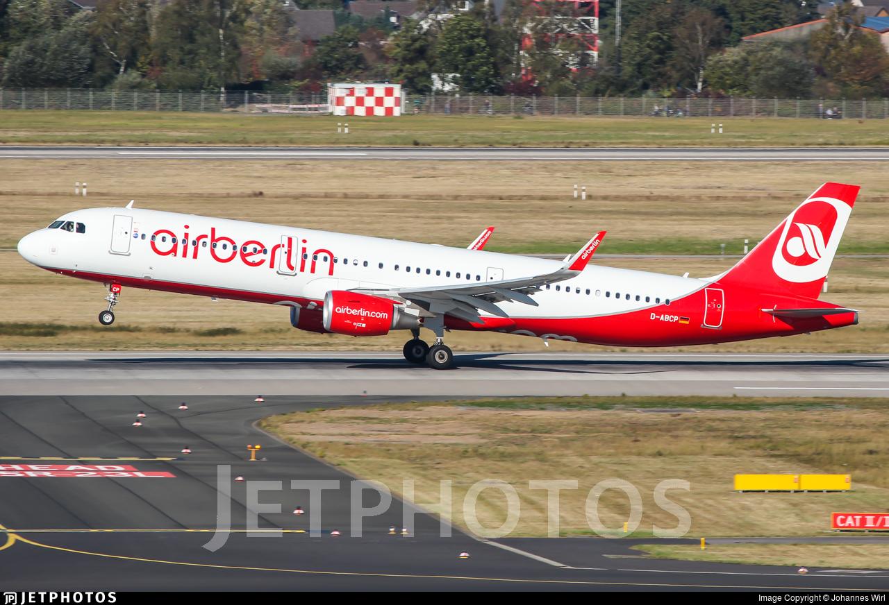D-ABCP - Airbus A321-211 - Air Berlin