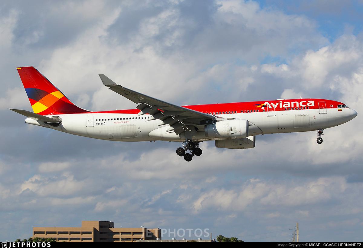 N948AC - Airbus A330-243 - Avianca