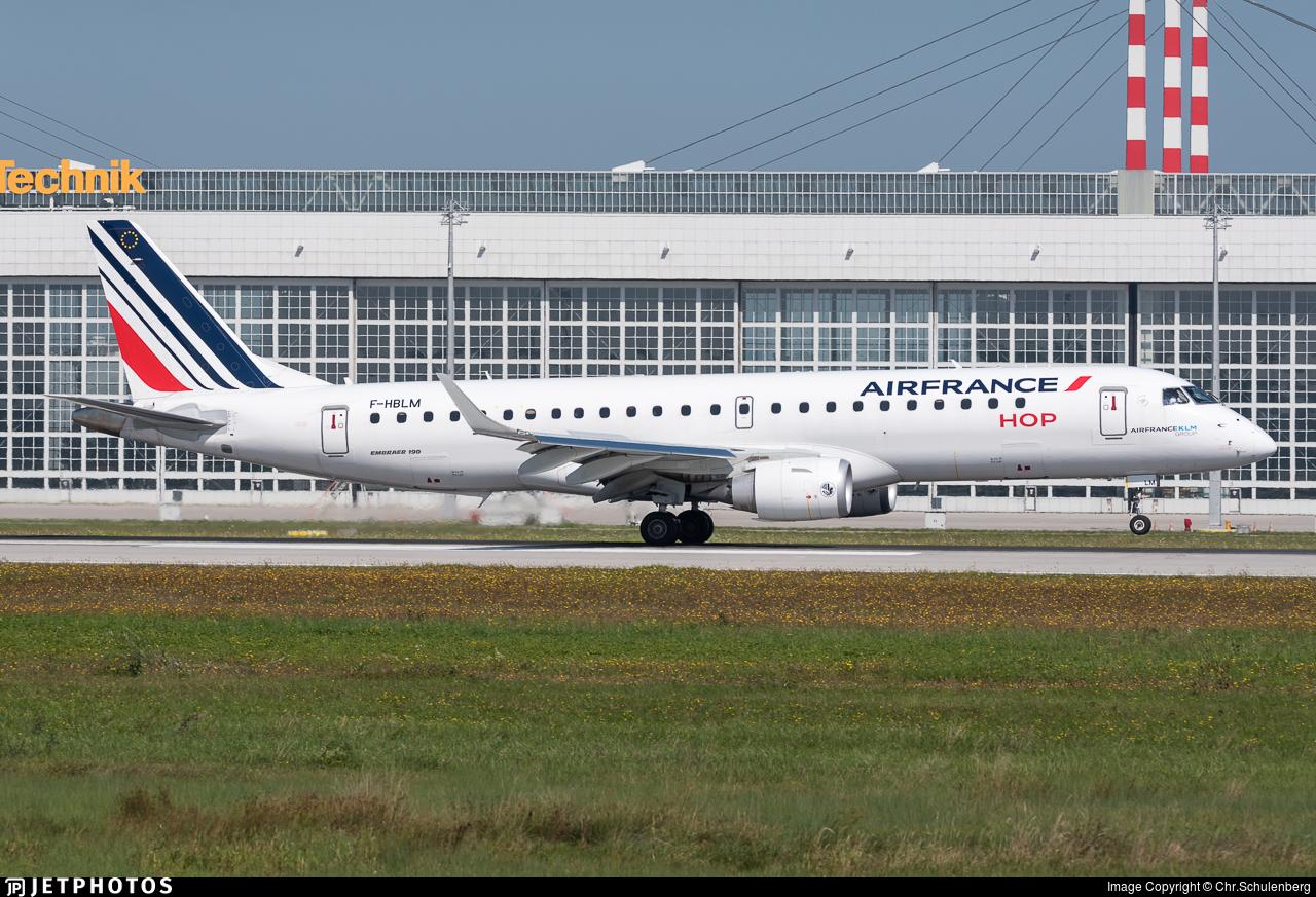 F-HBLM - Embraer 190-100STD - Air France HOP