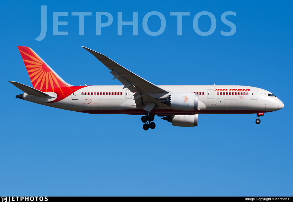 VT-ANO - Boeing 787-8 Dreamliner - Air India