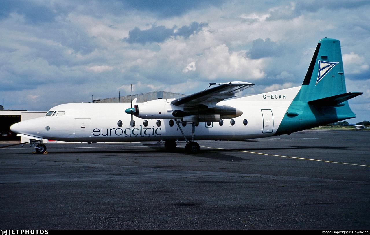 G-ECAH - Fokker F27-500 Friendship - Euroceltic Airways
