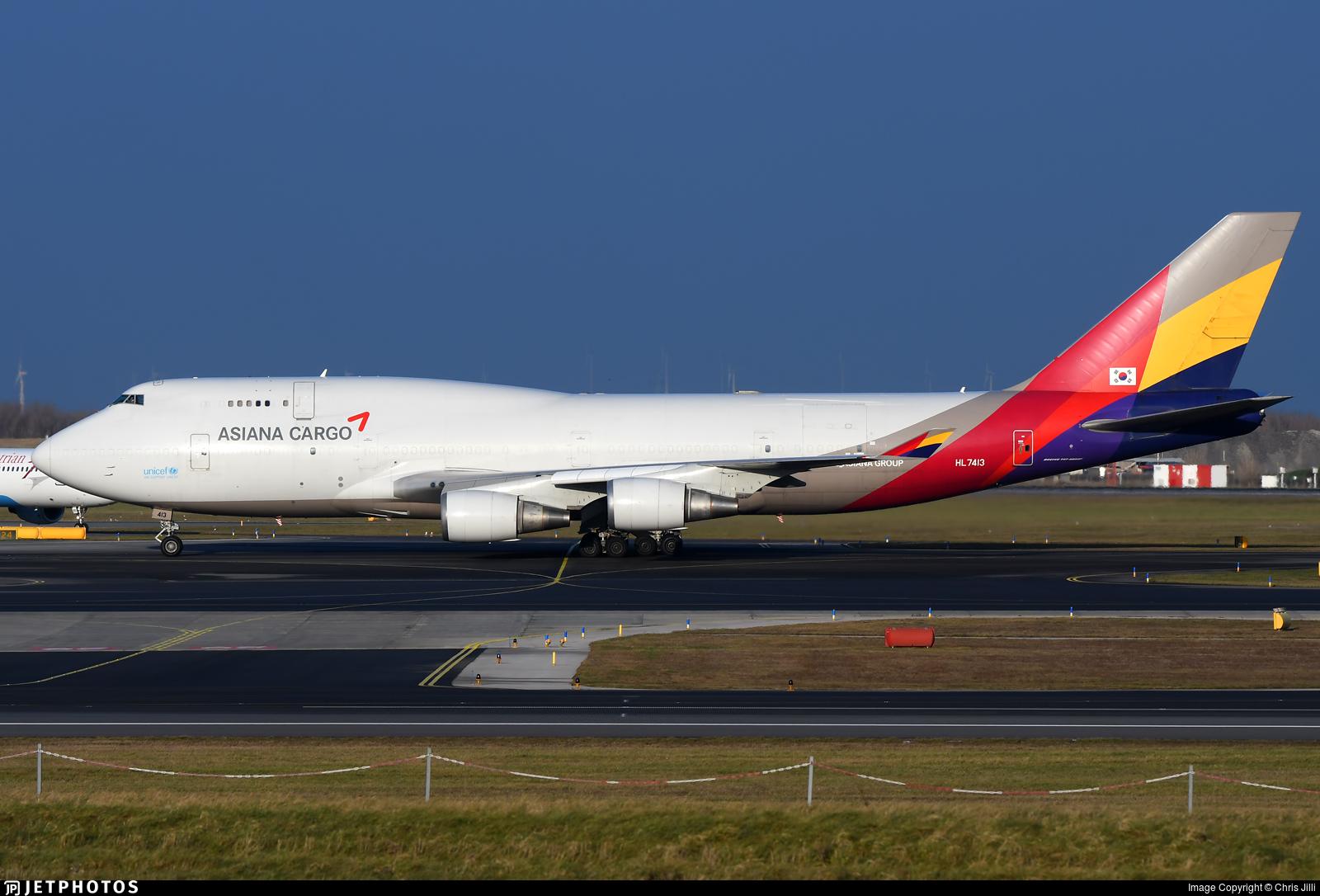 HL7413 | Boeing 747-48E(BDSF) | Asiana Cargo | Chris Jilli ...
