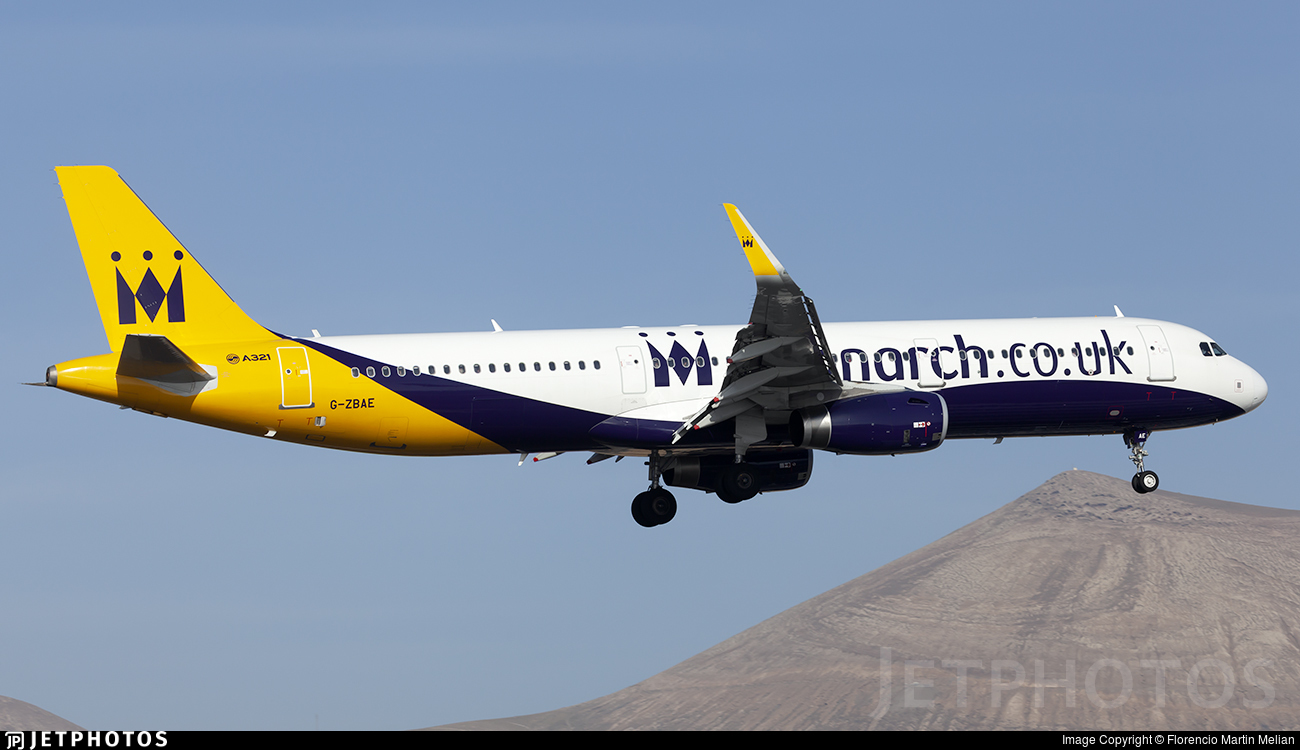 G-ZBAE - Airbus A321-231 - Monarch Airlines