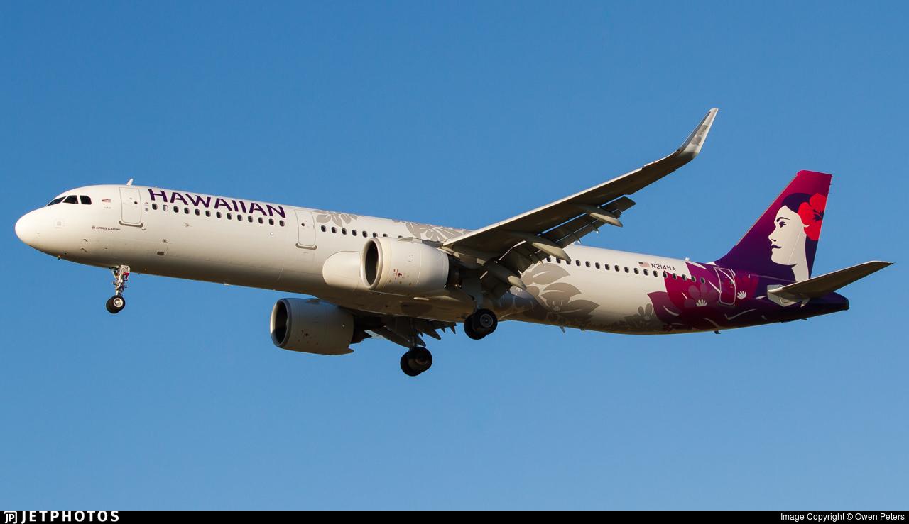 N214HA - Airbus A321-271N - Hawaiian Airlines