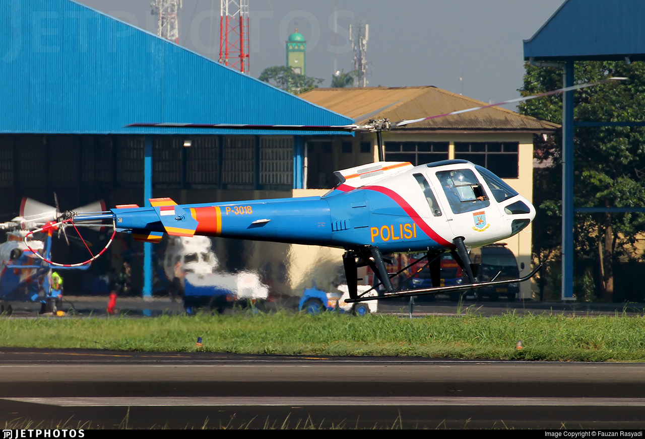 P-3018 - Enstrom 480B - Indonesia - Police