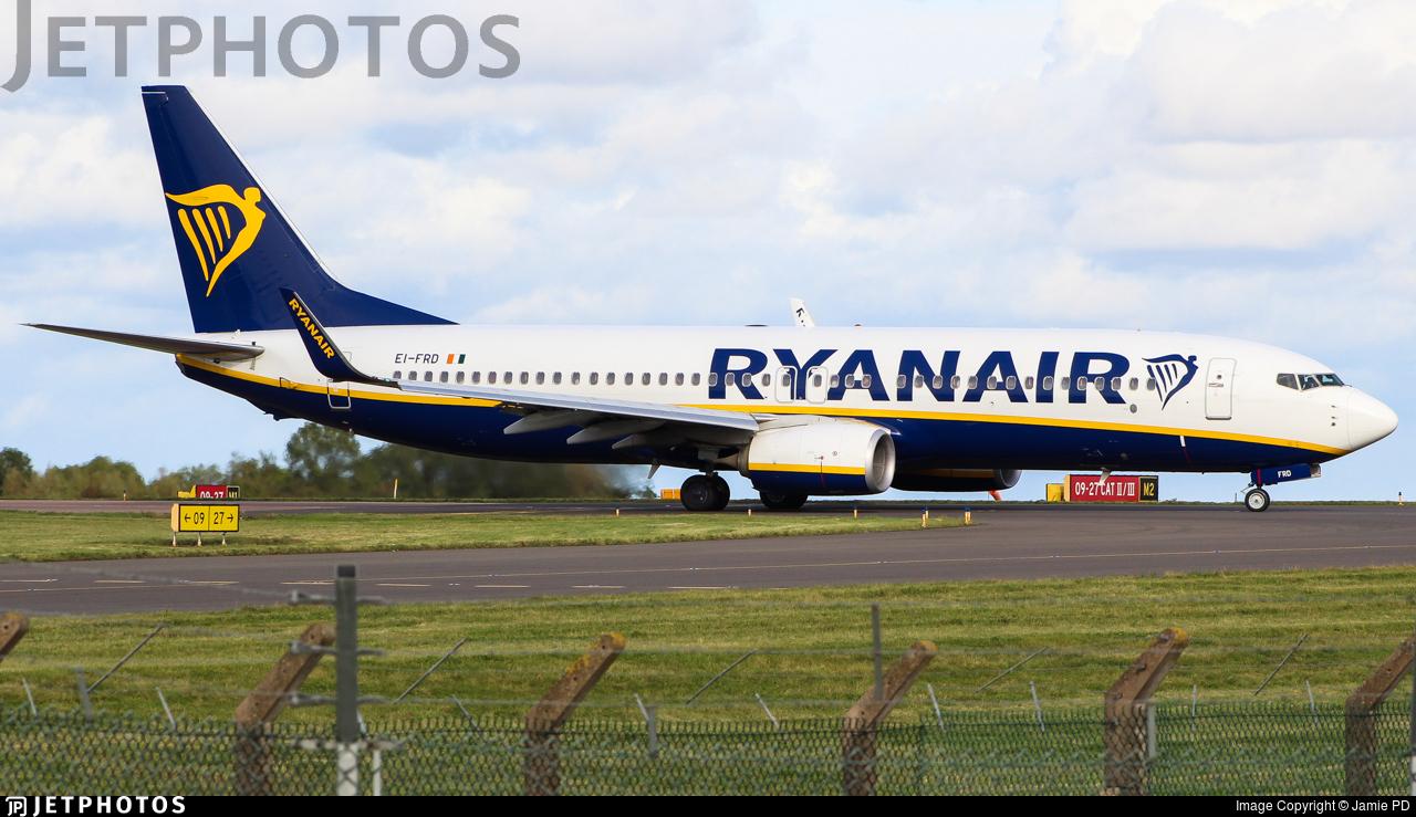 EI-FRD - Boeing 737-8AS - Ryanair
