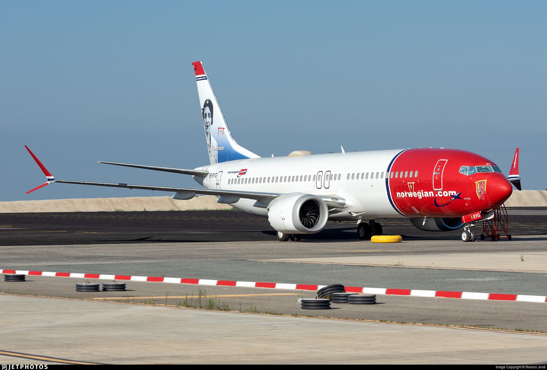 SE-RYG - Boeing 737-8 MAX - Norwegian