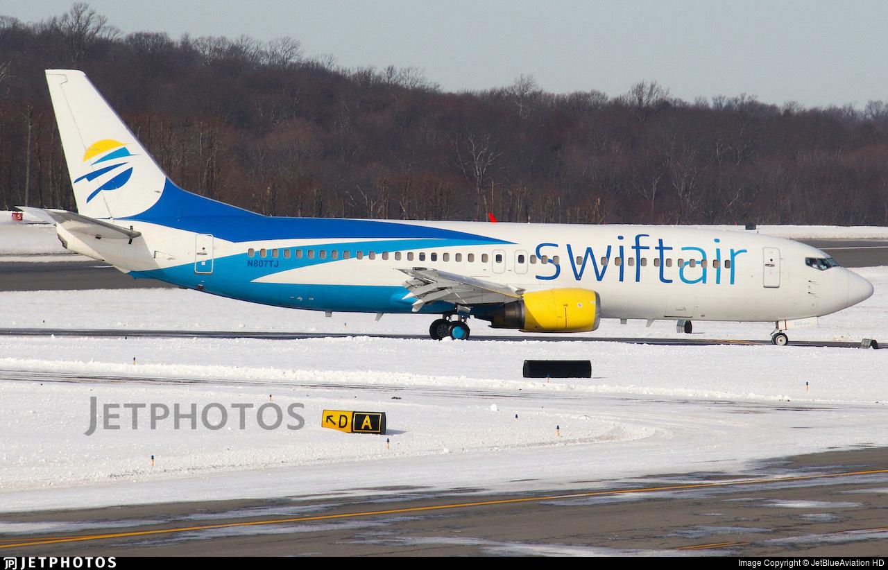 N807TJ - Boeing 737-4Q8 - Swift Air