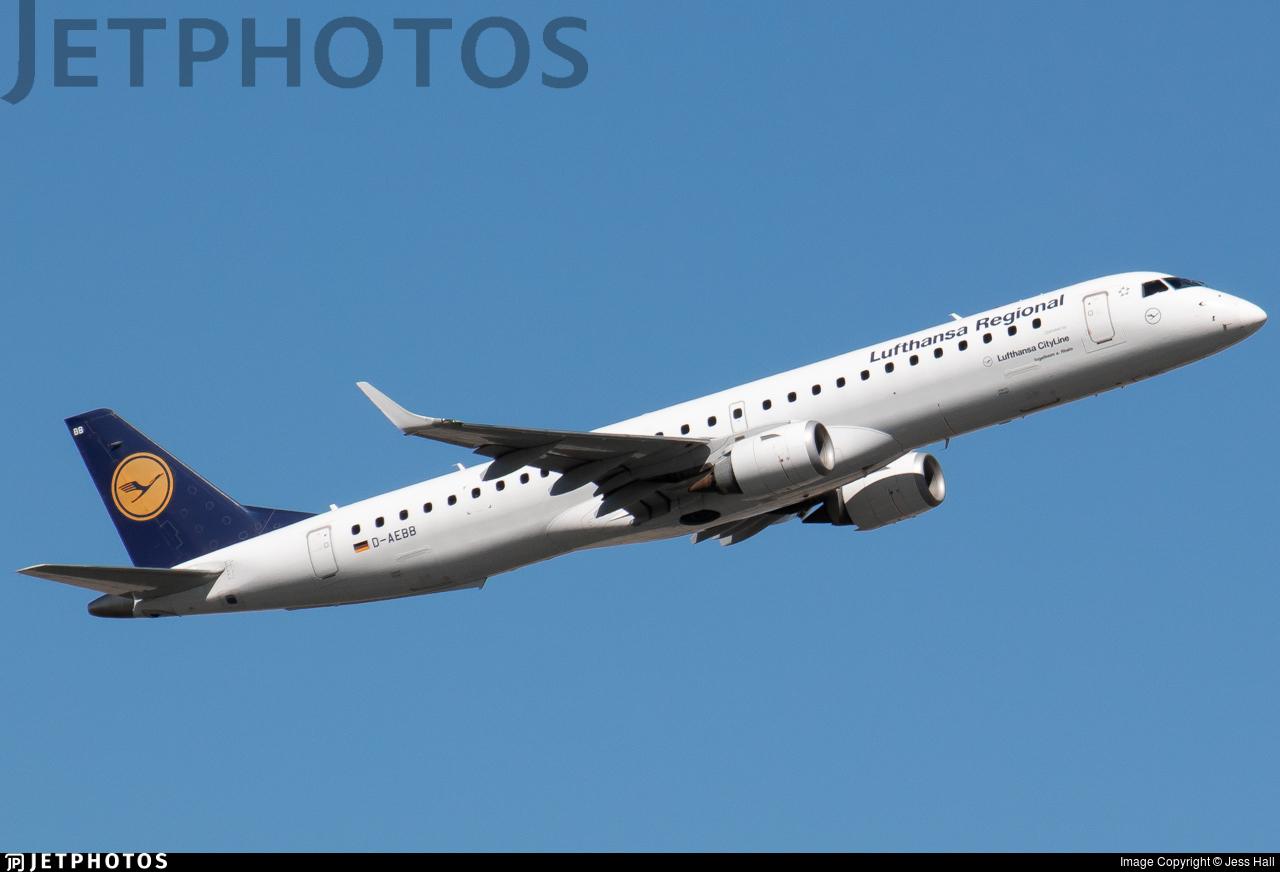 D-AEBB - Embraer 190-200LR - Lufthansa Regional (CityLine)