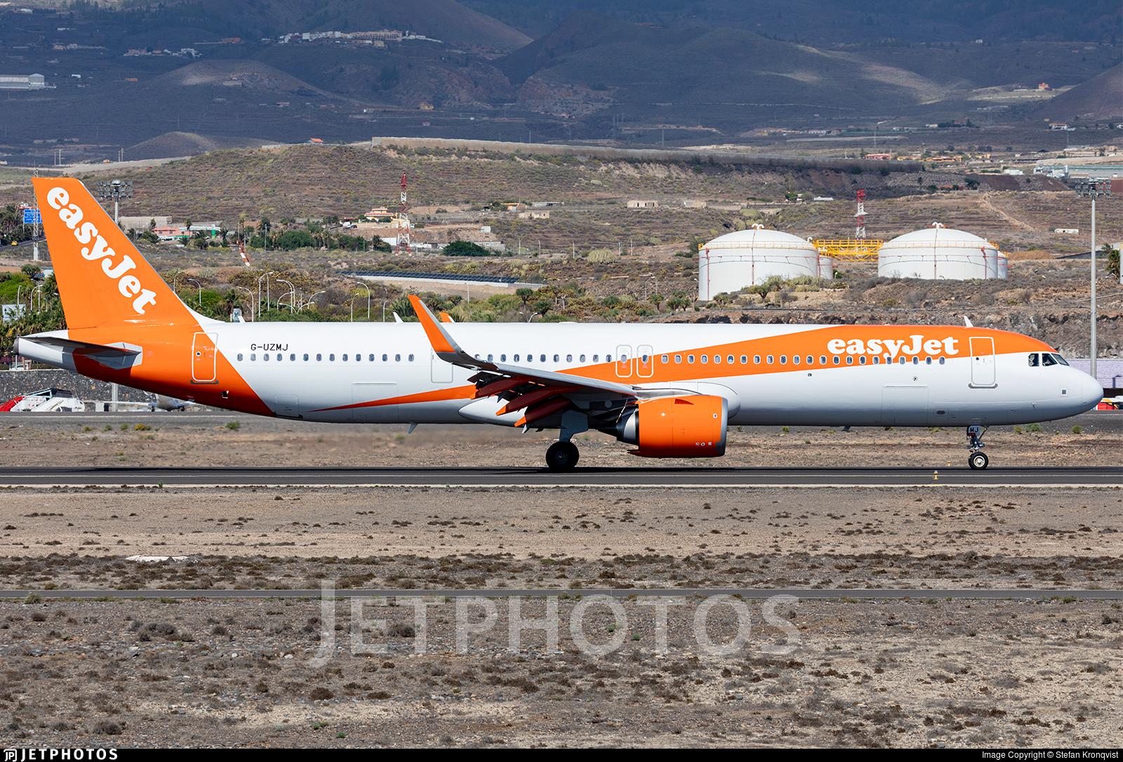 G-UZMJ - Airbus A321-251NX - easyJet