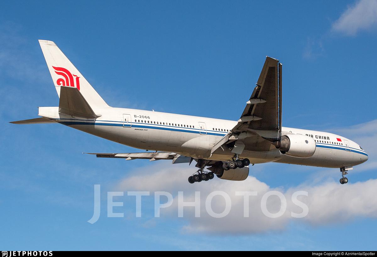 B-2066 - Boeing 777-2J6 - Air China