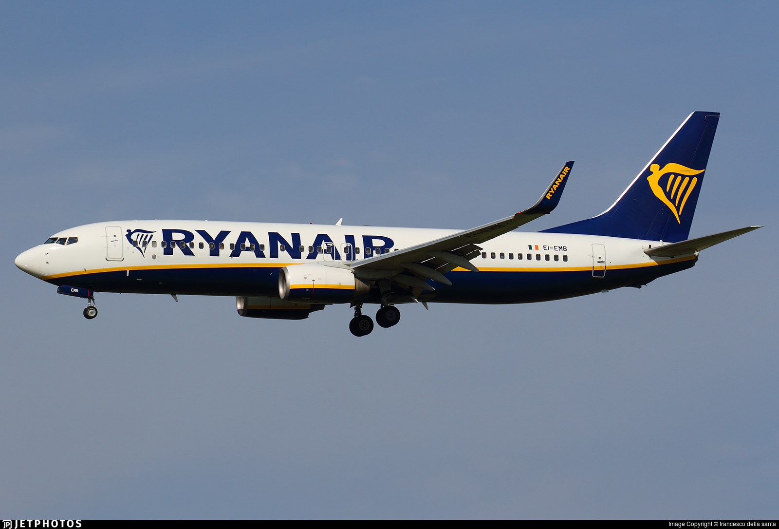 EI-EMB - Boeing 737-8AS - Ryanair