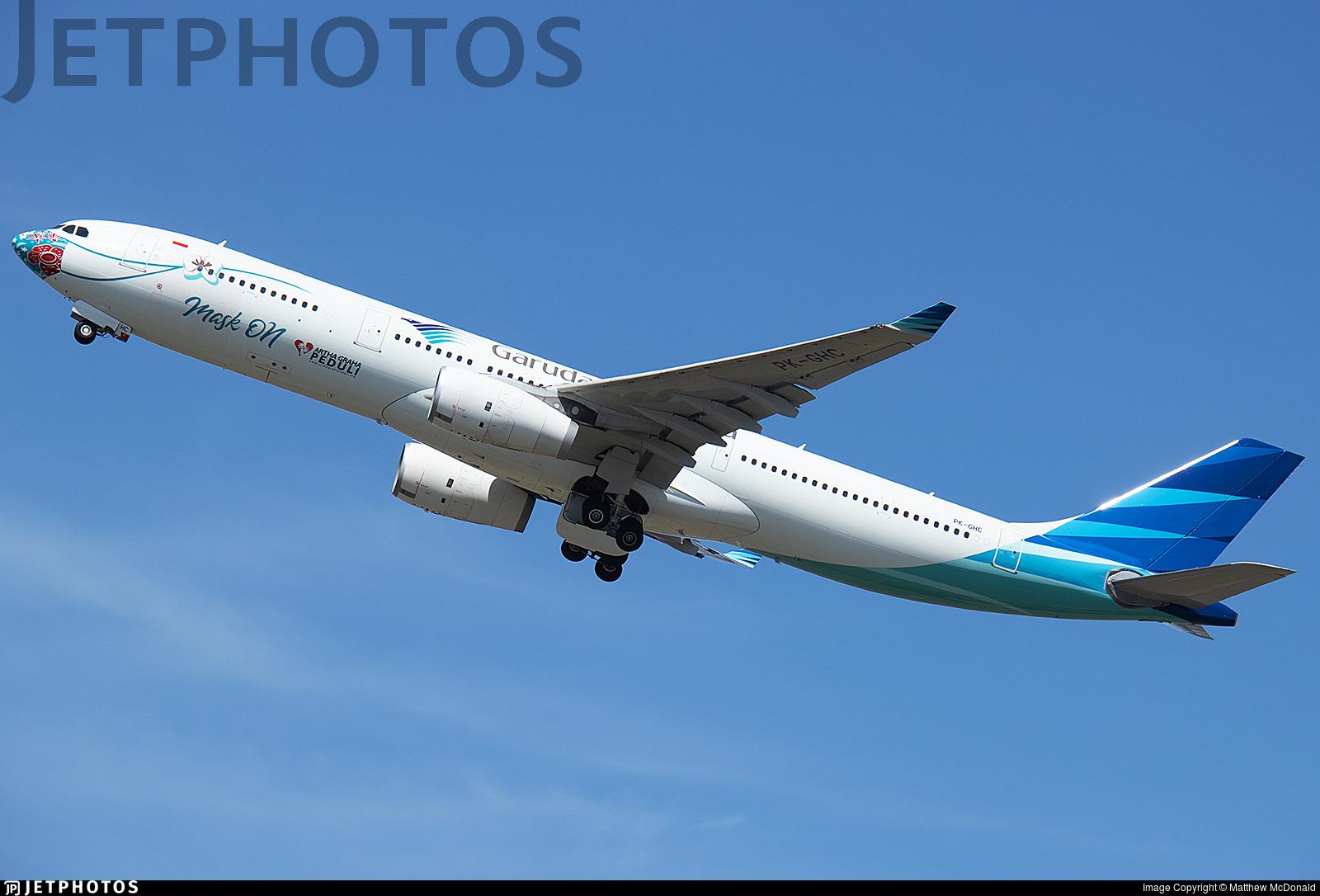 PK-GHC - Airbus A330-343 - Garuda Indonesia