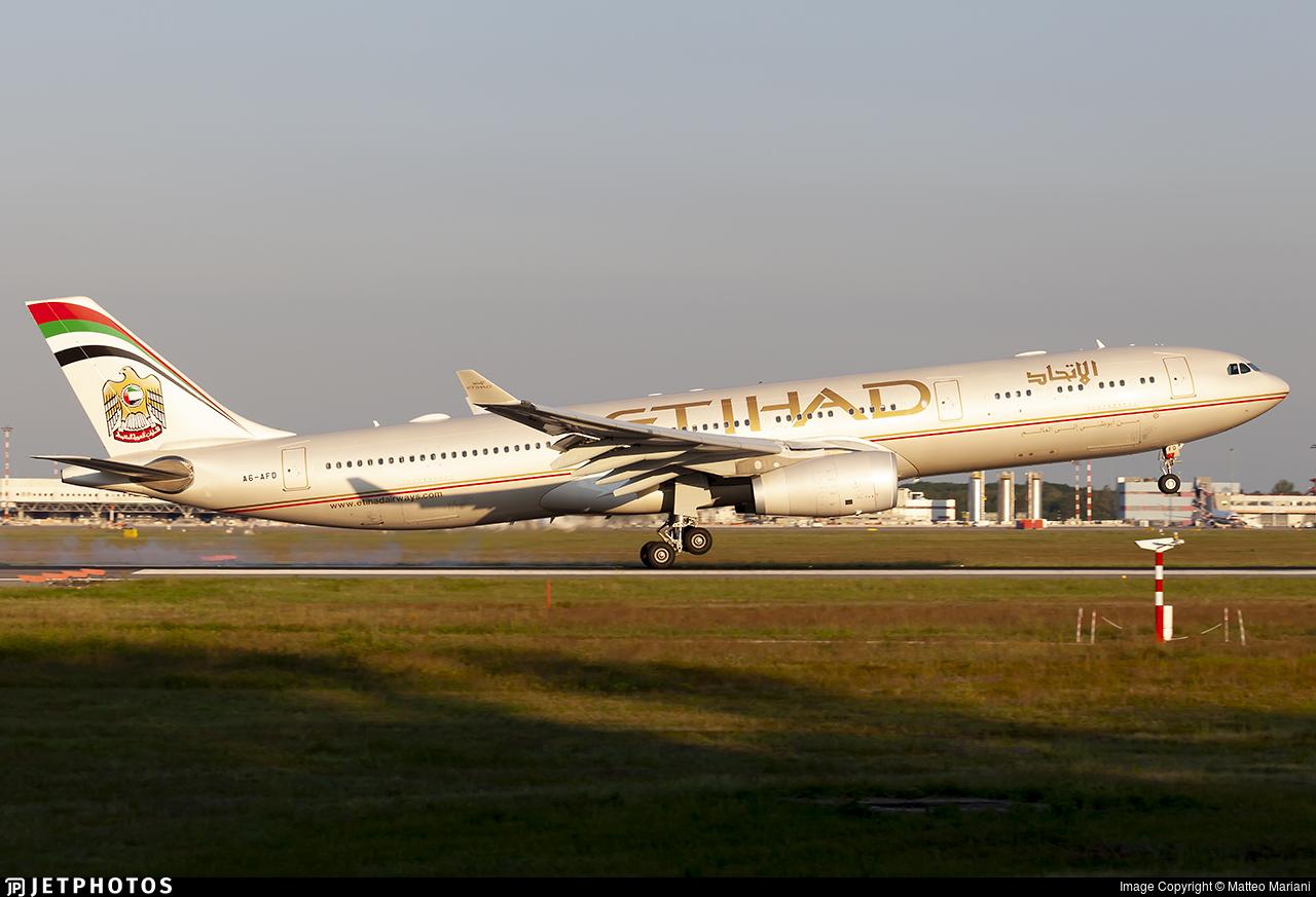 A6-AFD - Airbus A330-343 - Etihad Airways