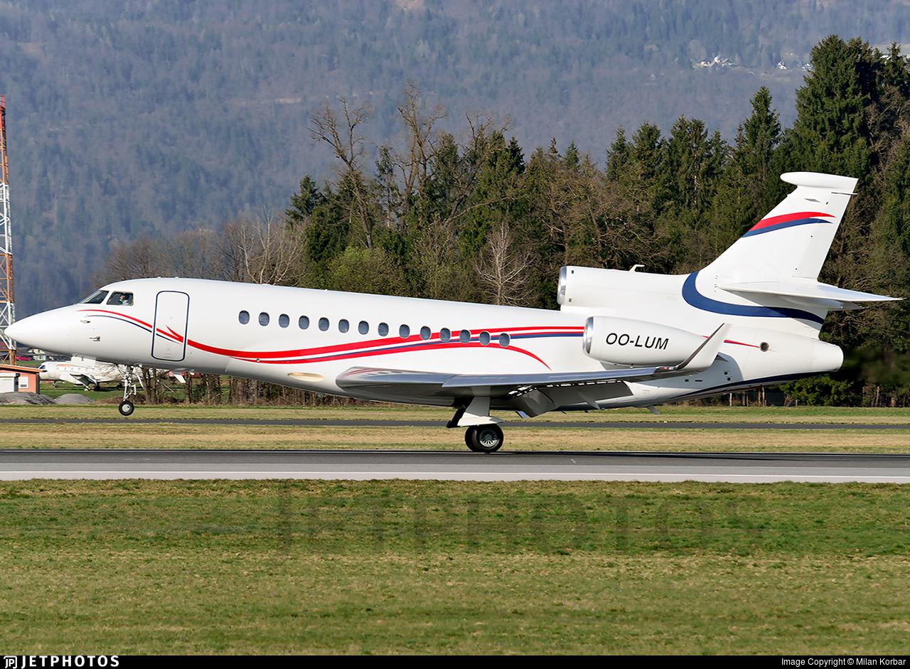 OO-LUM - Dassault Falcon 7X - Belgium - Air Force (Luxaviation)