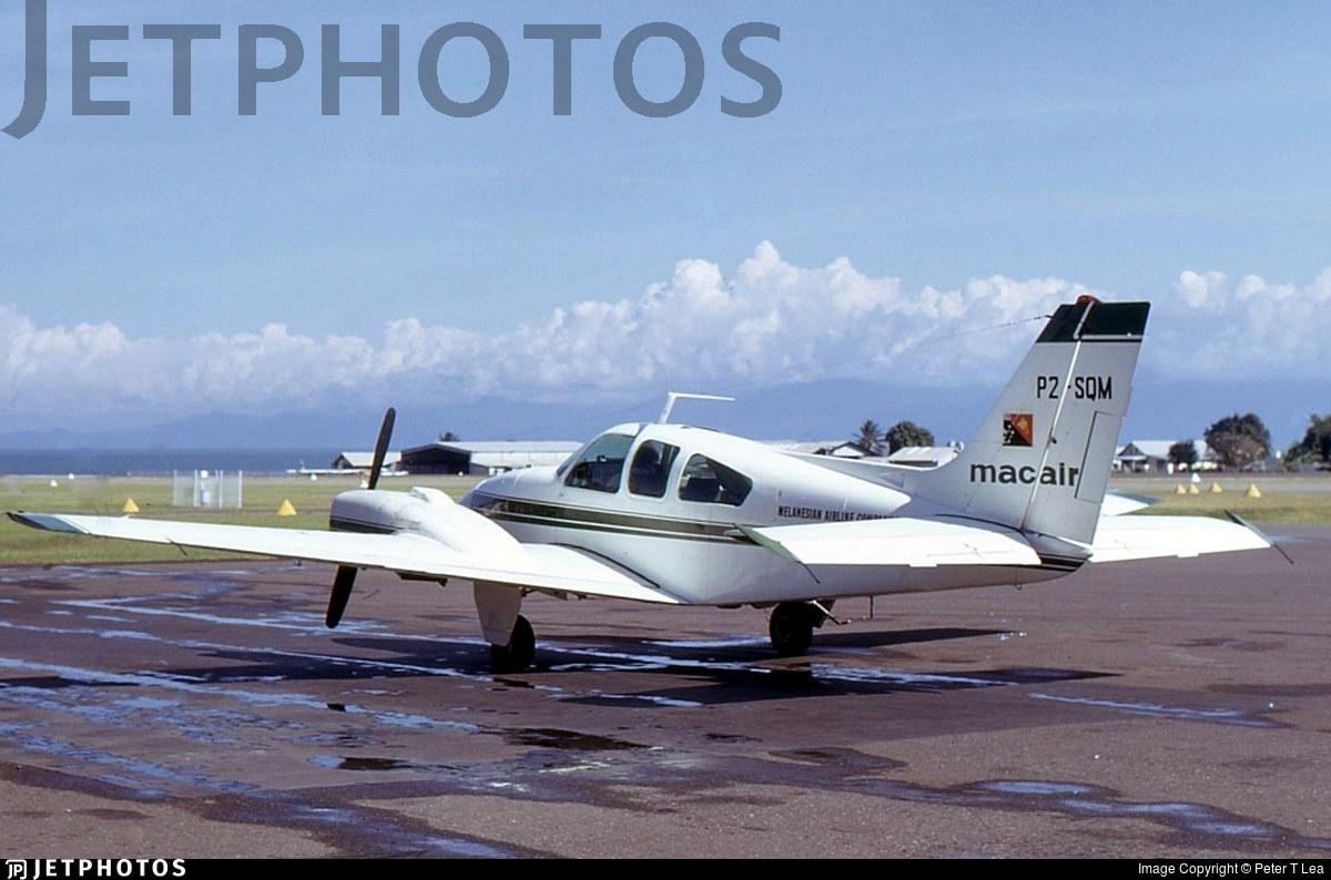 P2-SQM - Beechcraft 95-B55 Baron - Macair Airlines