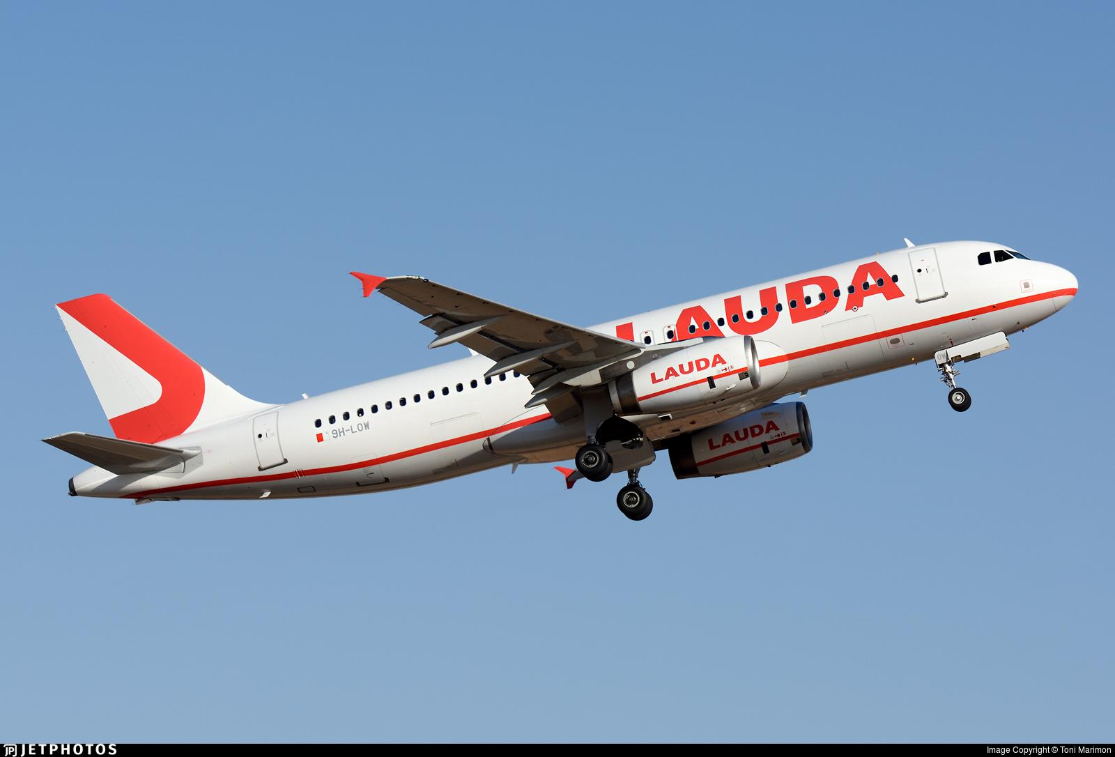 9H-LOW - Airbus A320-233 - Lauda Europe