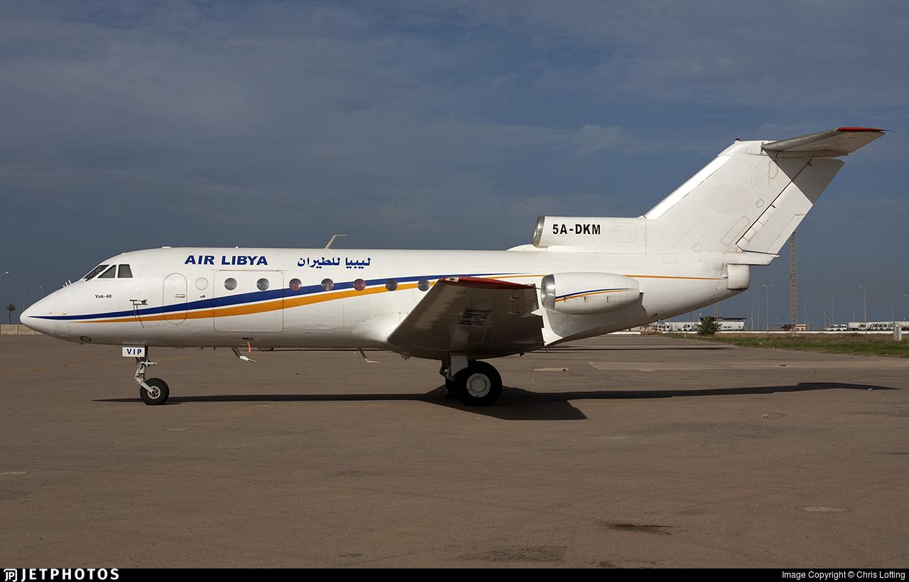 5A-DKM - Yakovlev Yak-40KD - Air Libya