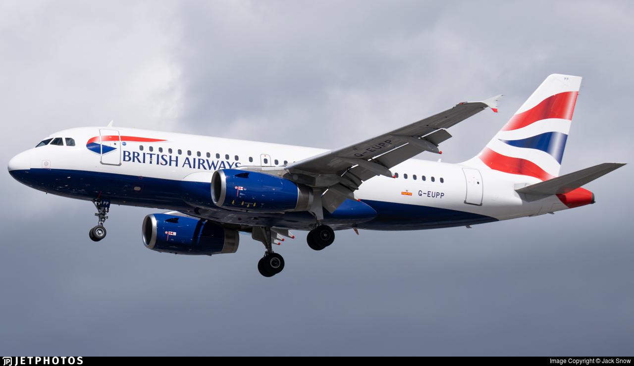 G-EUPP - Airbus A319-131 - British Airways