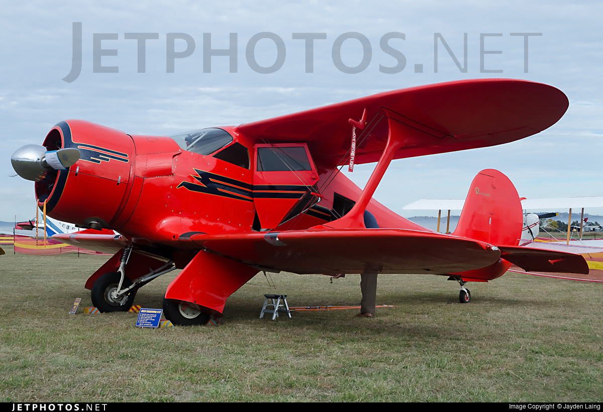 VH-UUV - Beechcraft D17S Staggerwing - Private