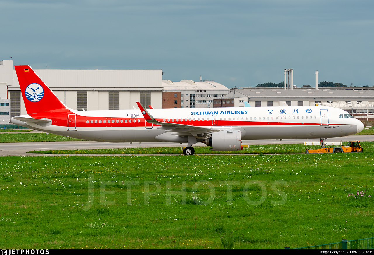D-AYAZ - Airbus A321-271NX - Sichuan Airlines