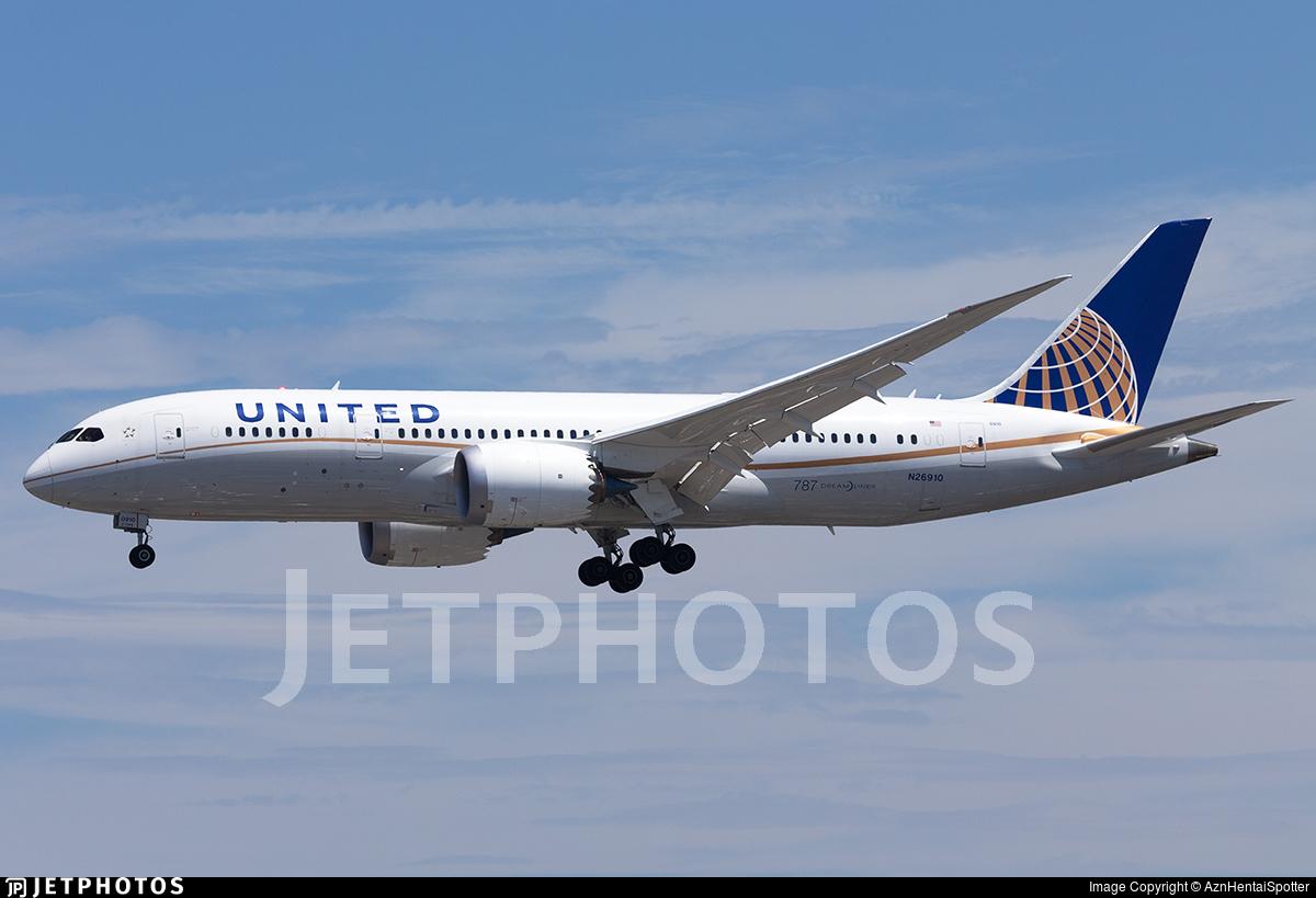 N26910 - Boeing 787-8 Dreamliner - United Airlines