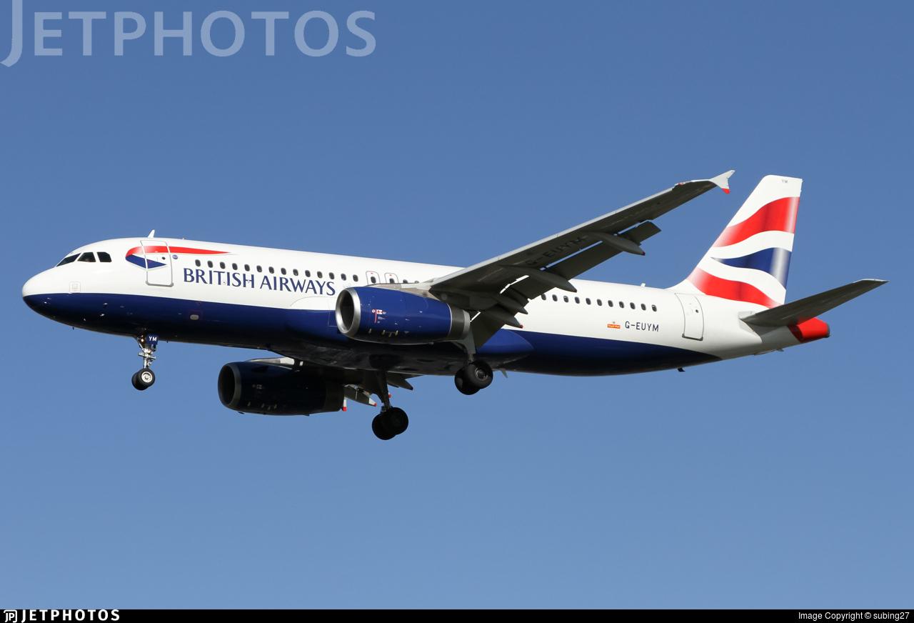 G-EUYM - Airbus A320-232 - British Airways