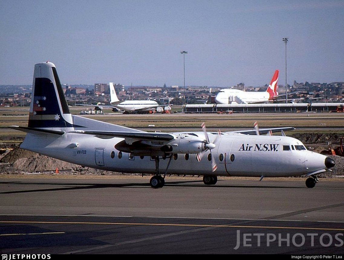 VH-FCD - Fokker F27-500 Friendship - Air New South Wales