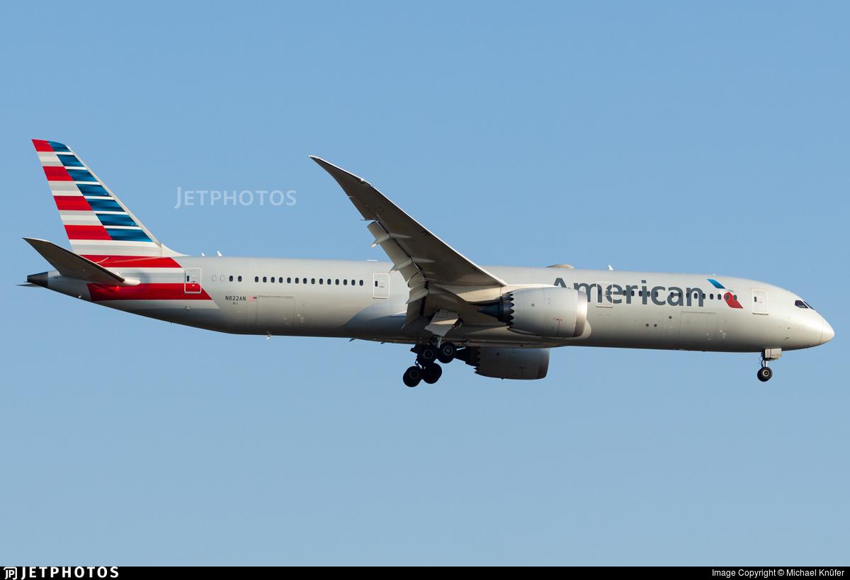 N822AN - Boeing 787-9 Dreamliner - American Airlines