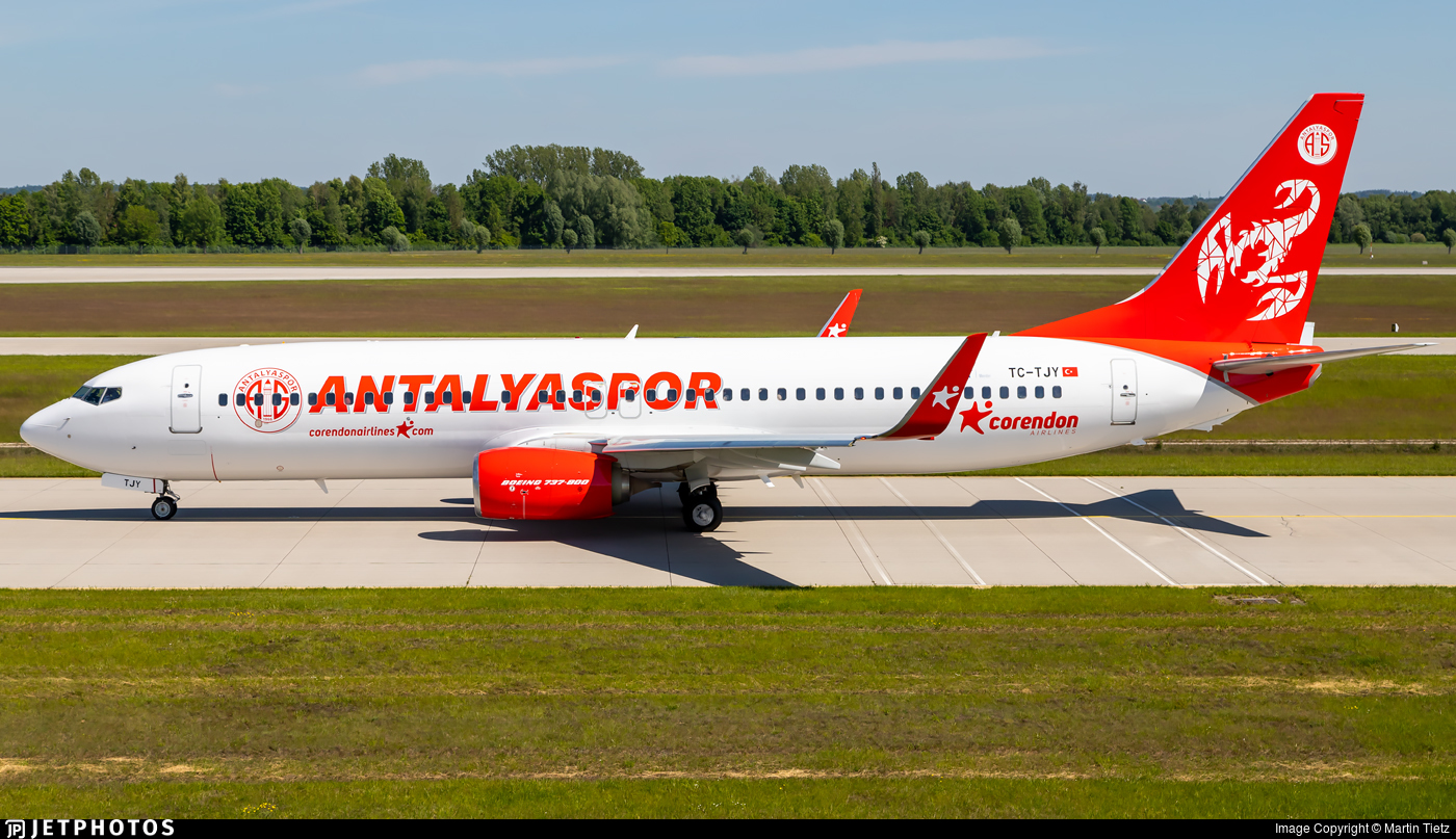 TC-TJY - Boeing 737-8AS - Corendon Airlines