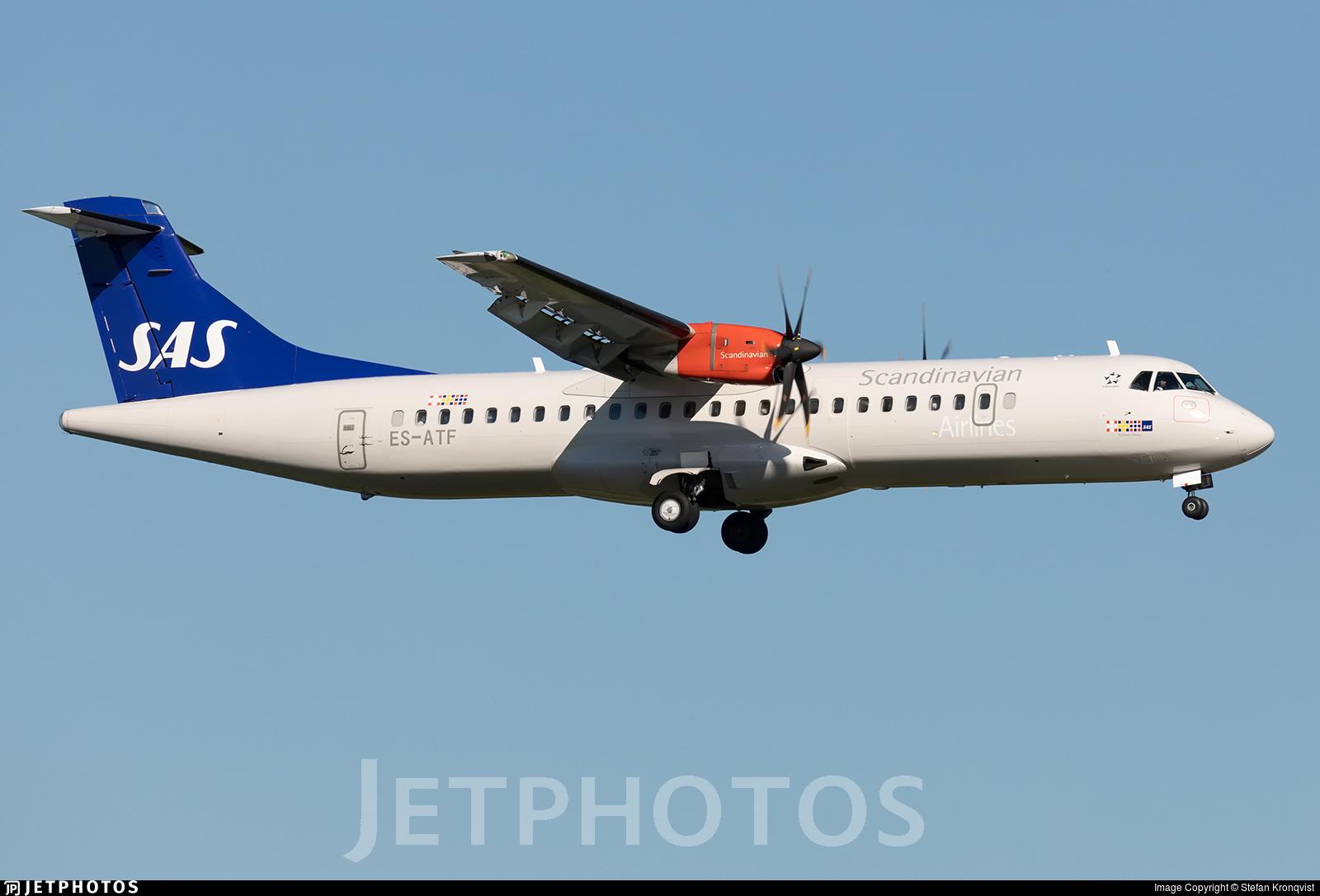 ES-ATF - ATR 72-212A(600) - Scandinavian Airlines (Nordica)