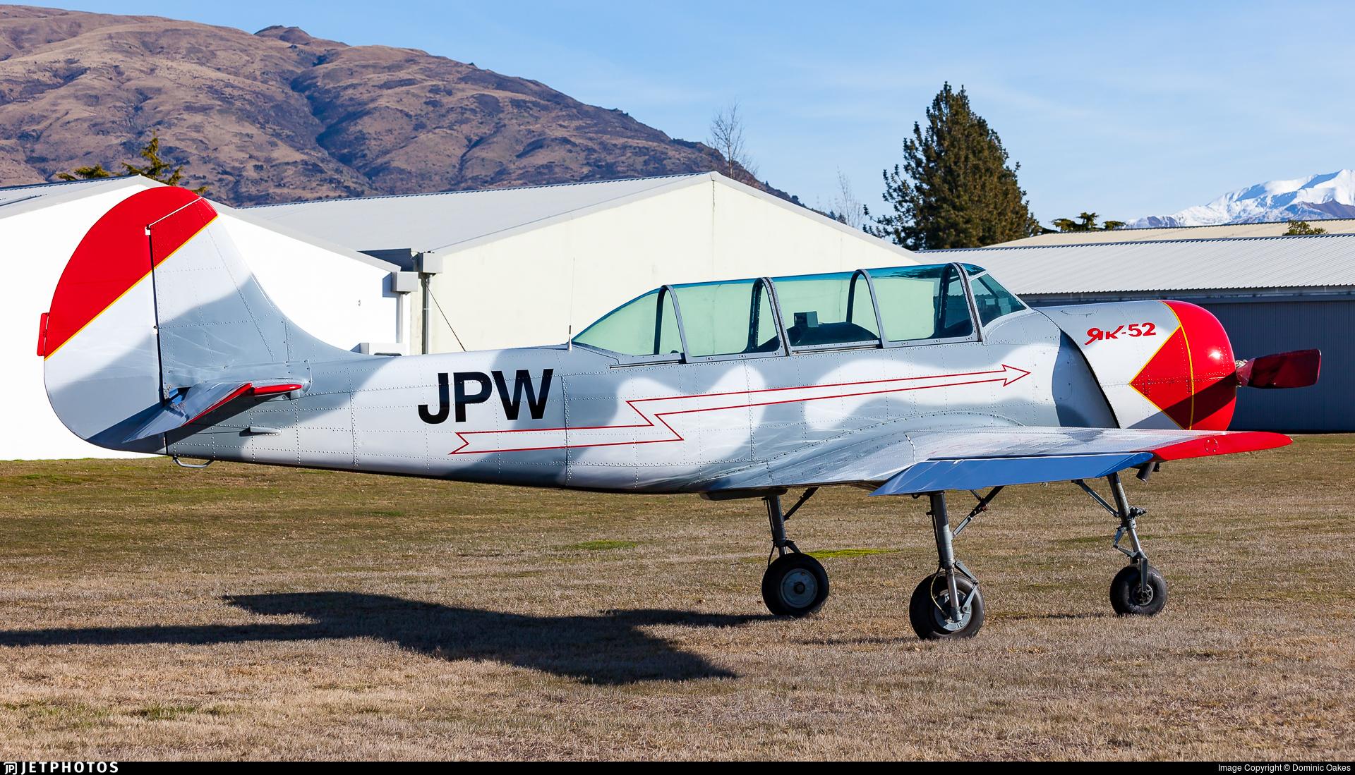 ZK-JPW - Yakovlev Yak-52 - Private