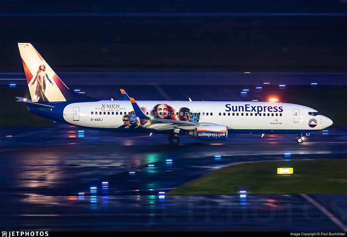 D-ASXJ - Boeing 737-86N - SunExpress Germany