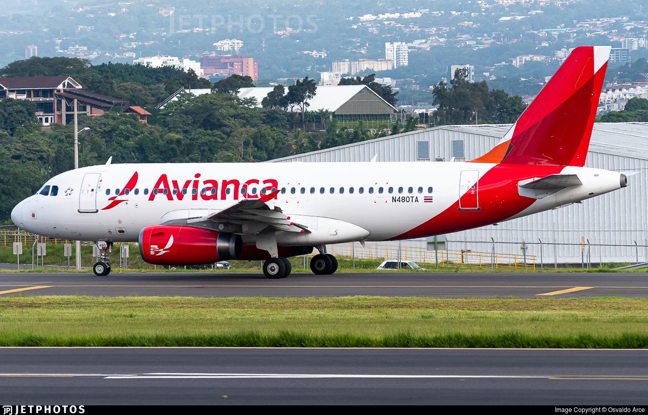 N480TA - Airbus A319-132 - Avianca Central America
