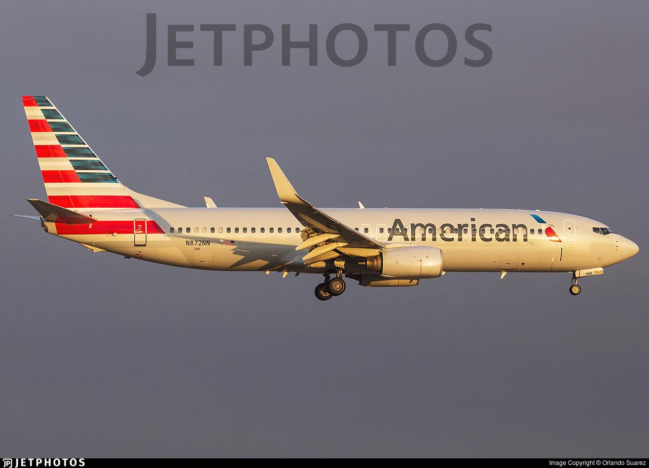 N872nn Boeing 737 823 American Airlines Orlando