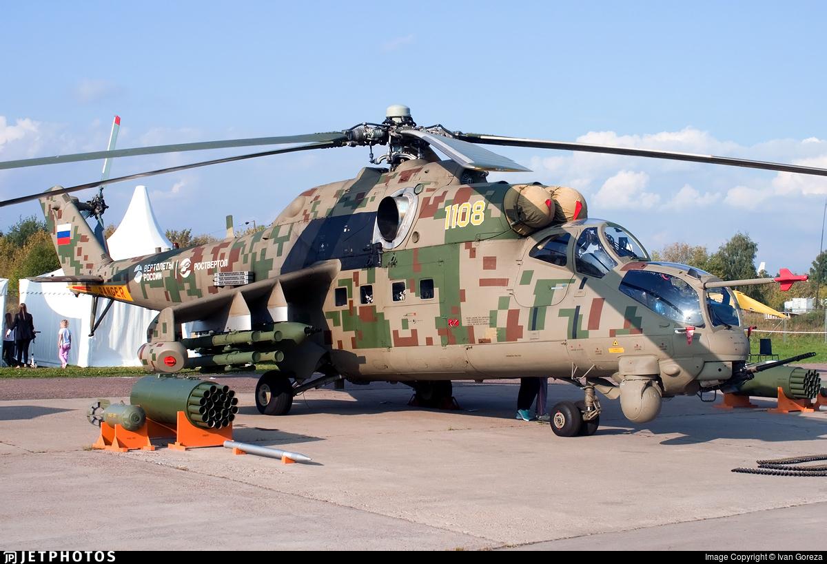 1108 - Mil Mi-24P Hind F - Russia - Air Force