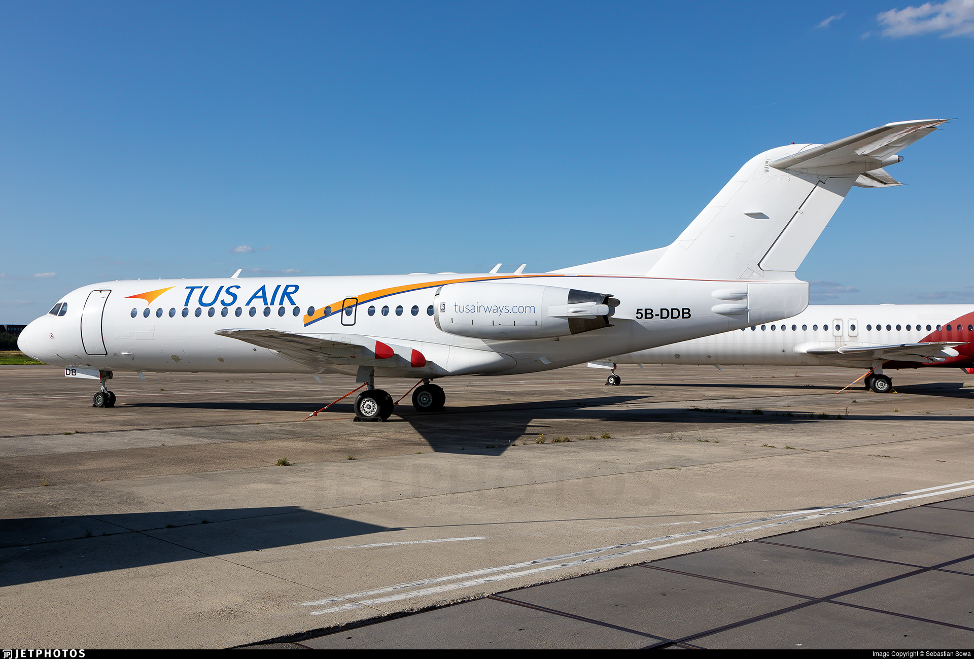 5B-DDB - Fokker 70 - Tus Airways