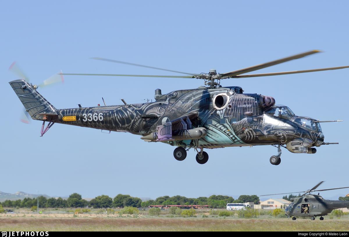 3366 - Mil Mi-24V Hind E - Czech Republic - Air Force